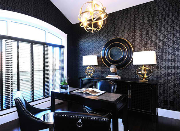 Astounding Stunning Wallpapers In 20 Home Office And Study Spaces Home Largest Home Design Picture Inspirations Pitcheantrous