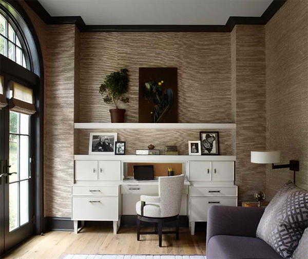 Prime Stunning Wallpapers In 20 Home Office And Study Spaces Home Largest Home Design Picture Inspirations Pitcheantrous