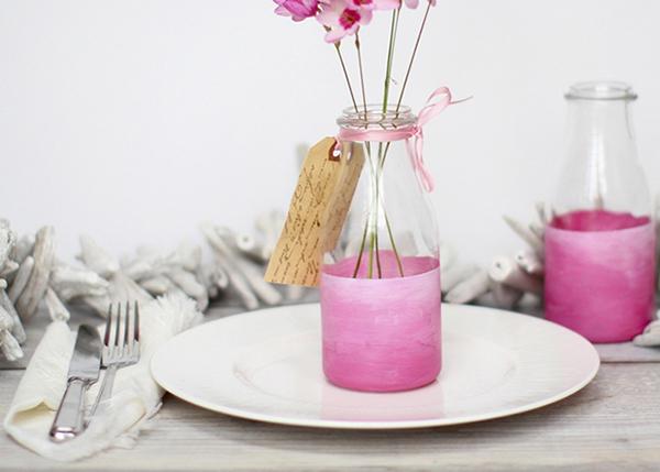 Simple Painted Bottle Vase