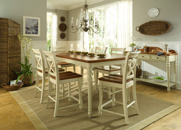 20 Pretty Beach Cottage Furniture for Dining Rooms | Home Design Lover