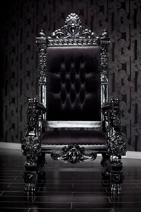black baroque throne