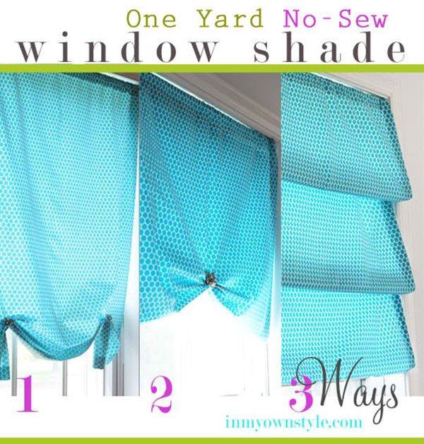 No Sew Window Treatment –3 Ways