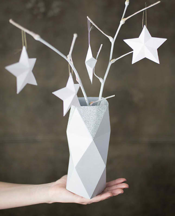 Faceted Paper Vase
