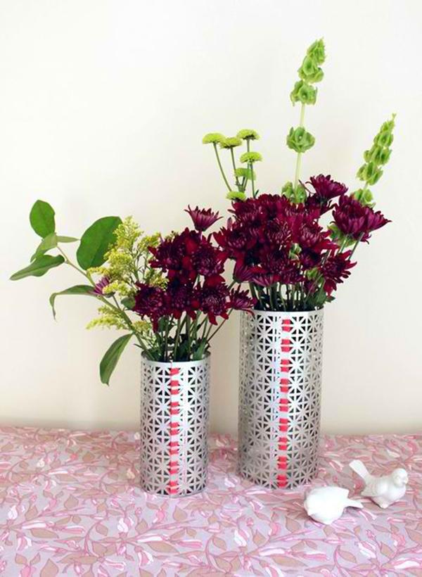 DIY Metal Screen Vase