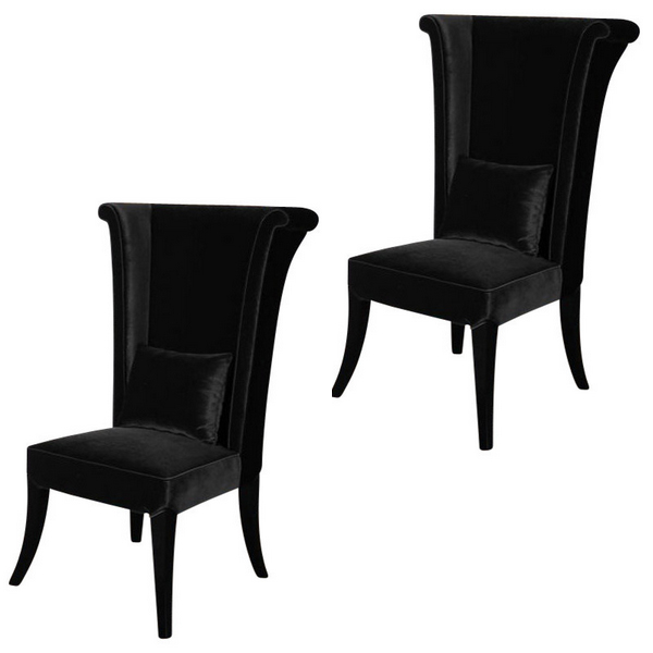 Black Living Room Chairs - 20 Glamorous Examples Of Black Living Room Chairs Home Design Lover