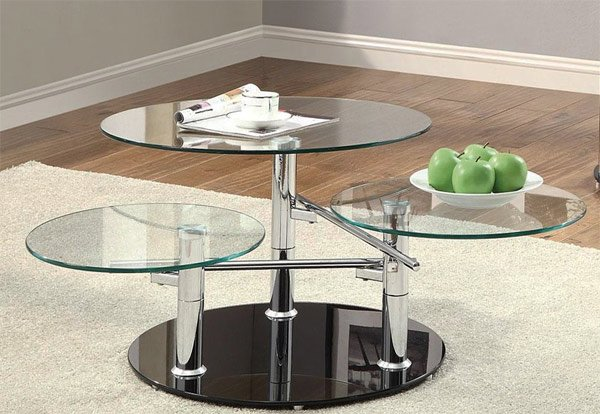 20 Inimitable Styles of Swiveling Glass Coffee TableHome Design