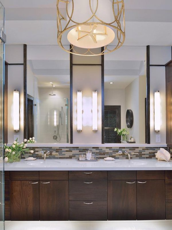 clean double vanity bathroom pendant lighting double vanity modern