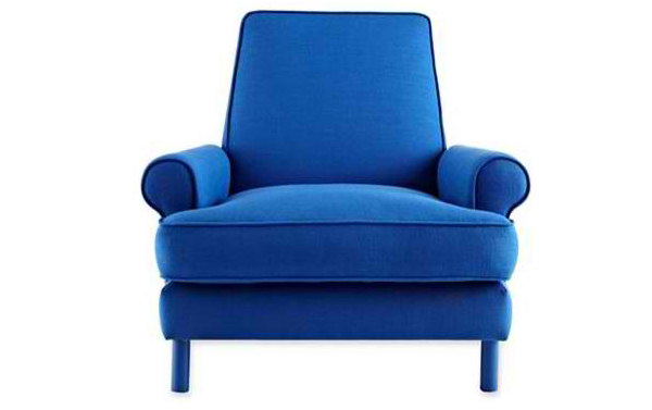 20 Inspiringly Charming Blue Living Room Chairs | Home Design Lover