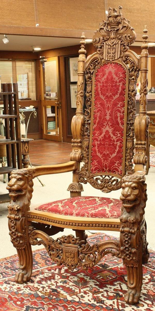renaissance style throne