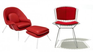 red lr chairs