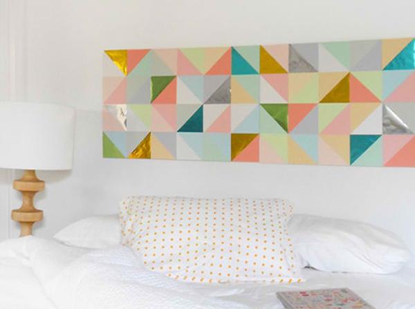 Geometric Patchwork Wall Art