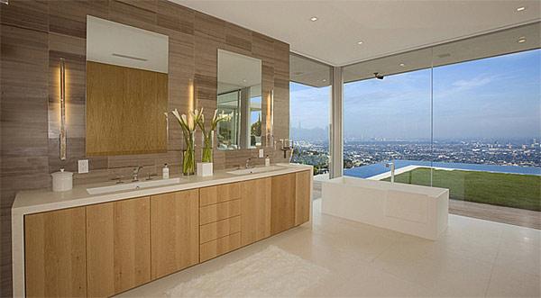 double vanity freestanding bath