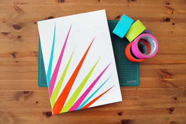 DIY Duct Tape Canvas Art