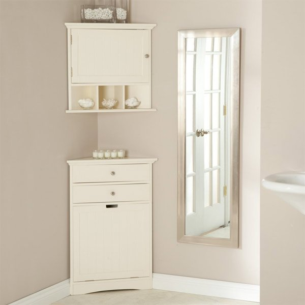 corner cabinets to make a clutterfree bathroom space  home,