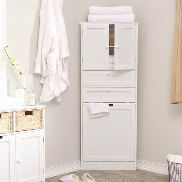 lacquer corner bathroom cabinet. 20 Corner Cabinets to Make a Clutter Free Bathroom Space   Home
