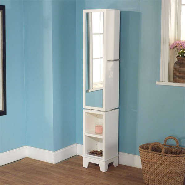 standing tall corner bathroom cabinet. 20 Corner Cabinets to Make a Clutter Free Bathroom Space   Home
