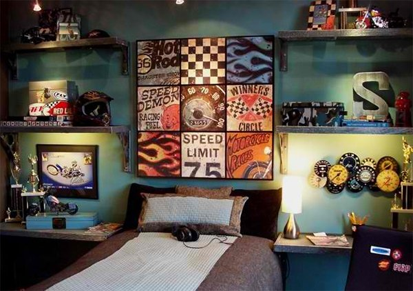 zoom with style in 20 car themed bedroom for your boys home design lover. Black Bedroom Furniture Sets. Home Design Ideas