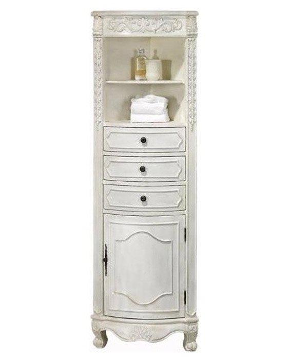 linen corner bathroom cabinet