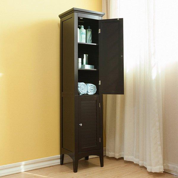 veneer wood corner bathroom cabinet