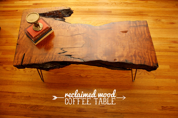 DIY Reclaimed Wood Coffee Table - 20 Amazing Ways To DIY A Coffee Table Home Design Lover