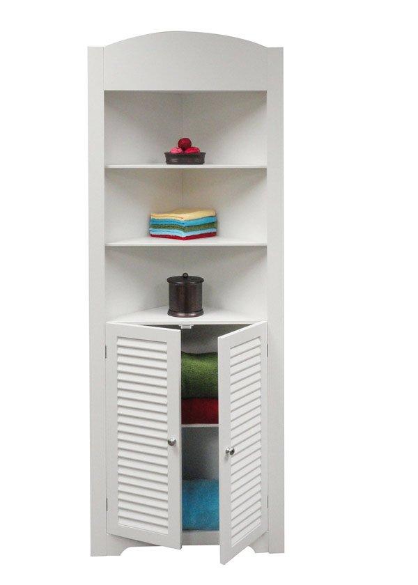 medium density wood corner cabinet