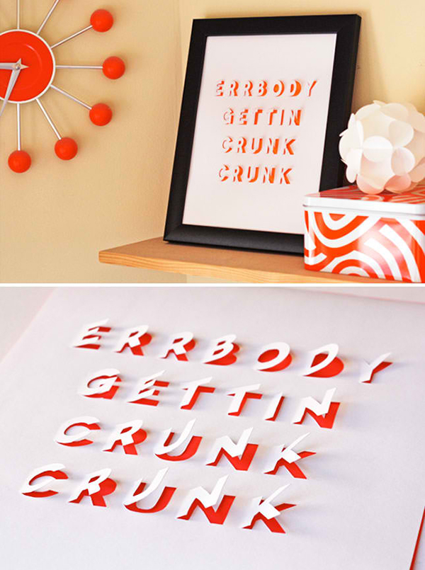 Cut Out Letter Posters