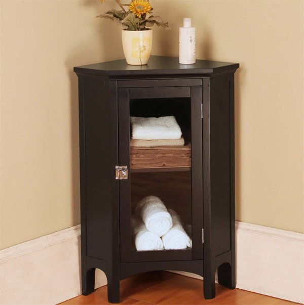 wood corner bathroom cabinet. 20 Corner Cabinets to Make a Clutter Free Bathroom Space   Home