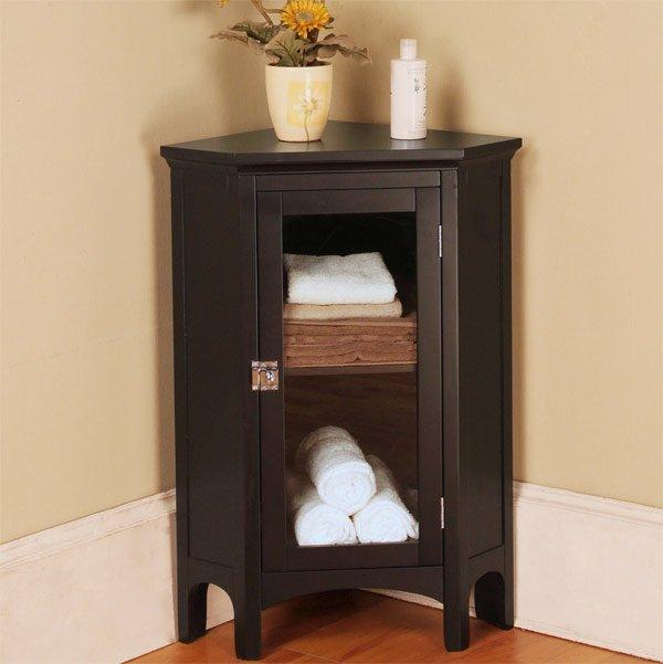 wood corner bathroom cabinet