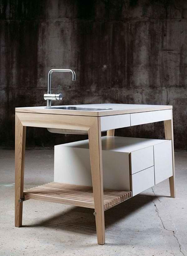 marvelous Kitchen Sink Stand #3: Free Standing Kitchen Sink