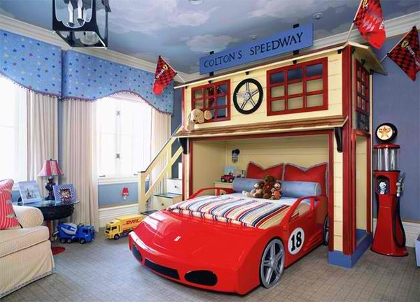 Italian Style. Zoom with Style in 20 Car Themed Bedroom for Your Boys   Home