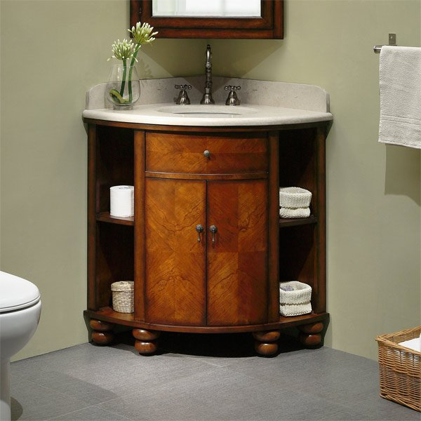 20 Corner Cabinets To Make A Clutter Free Bathroom Space