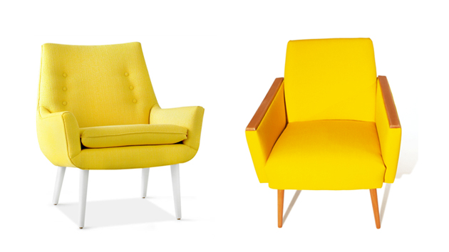 yellow lr chairs
