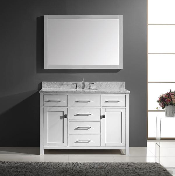 1  Caroline 48inch Single Square Sink Bathroom Vanity. 20 Worth it White Single Bathroom Vanity For Your Home   Home
