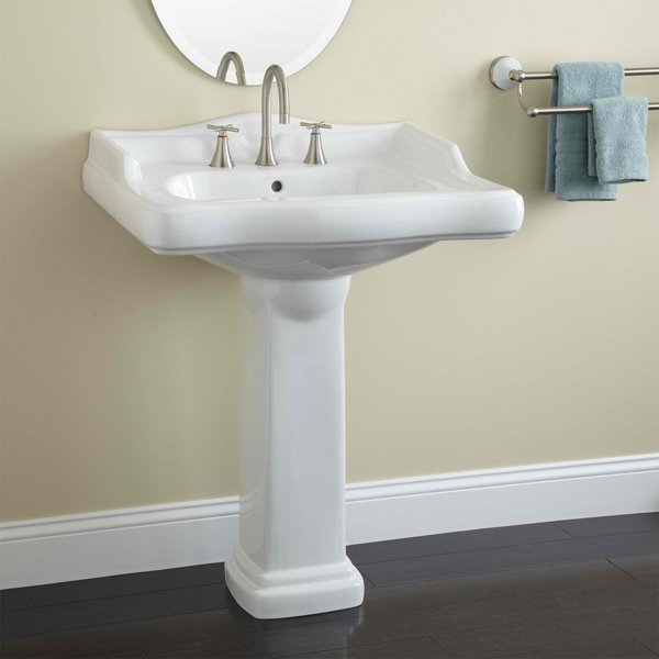 Large - 20 Fascinating Bathroom Pedestal Sinks Home Design Lover