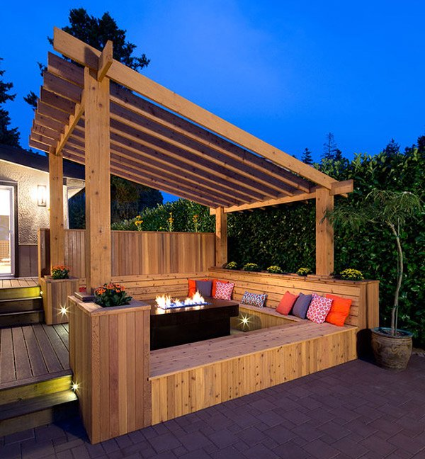wooden slanted roof