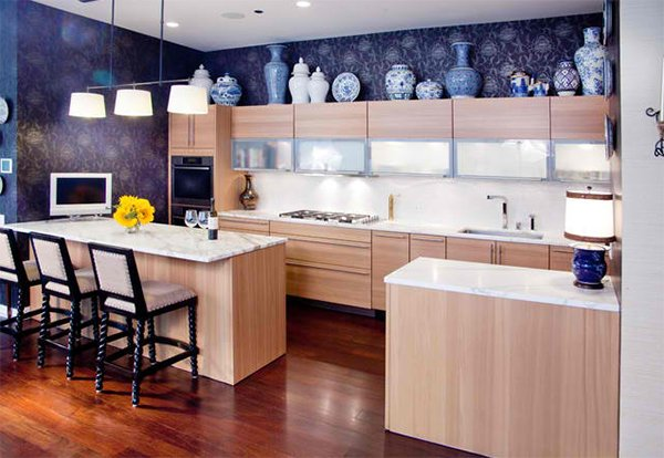 How to Decorate the Top of Kitchen Cabinets   Home Design Lover