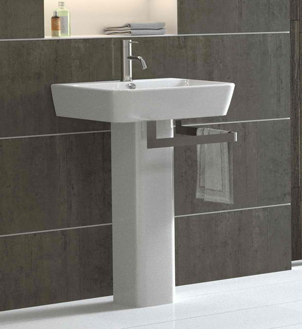 Emma. Bissonnet. Ceramic pedestal bath sink ... - 20 Fascinating Bathroom Pedestal Sinks Home Design Lover