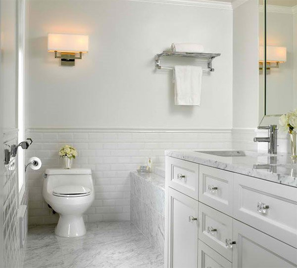 20 Beautiful Bathrooms Using Subway Tiles | Home Design Lover