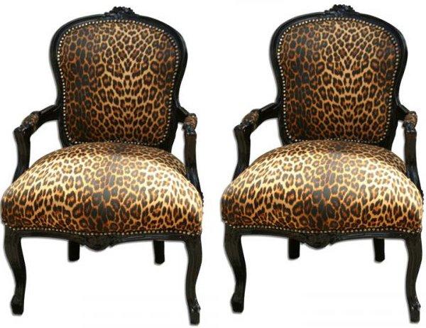 12. Leopard Print Arm Chair