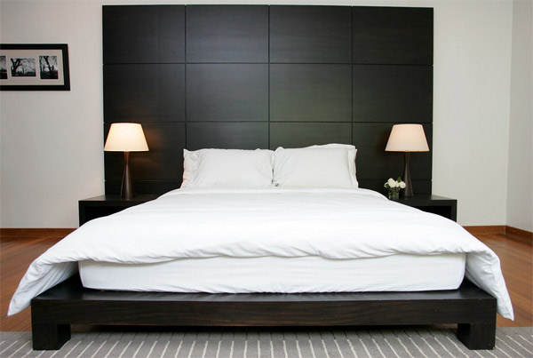 square panel - 20 Stylish Cuts Of Wooden Headboards Home Design Lover