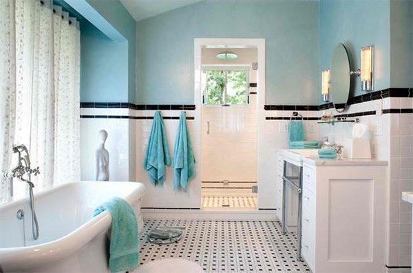 Ramble House  Kathryn Long  Beautiful bathroom. 20 Beautiful Bathrooms Using Subway Tiles   Home Design Lover