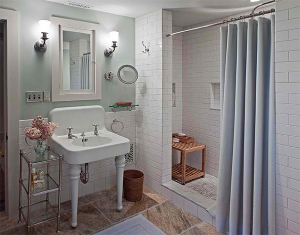 Renovated Bath Giambastiani Design The Shower Area Of This Bathroom Has Subway Tiles