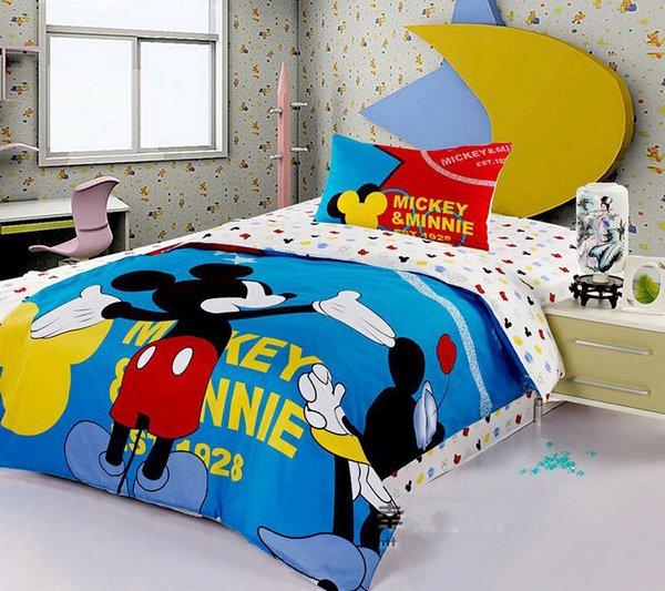 Fashion Brand Mickey Mouse Bedding Set. 20 Invigorating Mickey and Minnie Bedding Sets   Home Design Lover