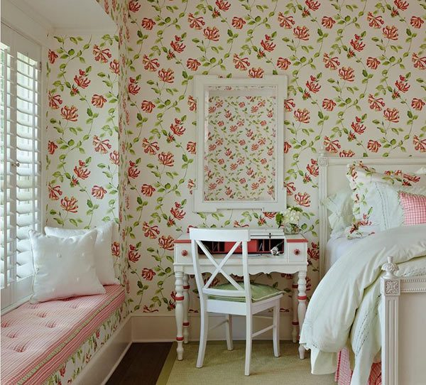 20 Captivating Bedrooms With Floral Wallpaper DesignsHome