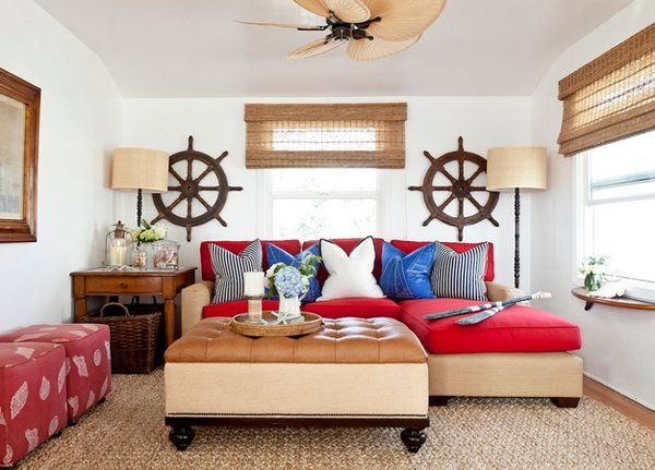 centered window - 20 Nautical Home Decorations In The Living Room Home Design Lover