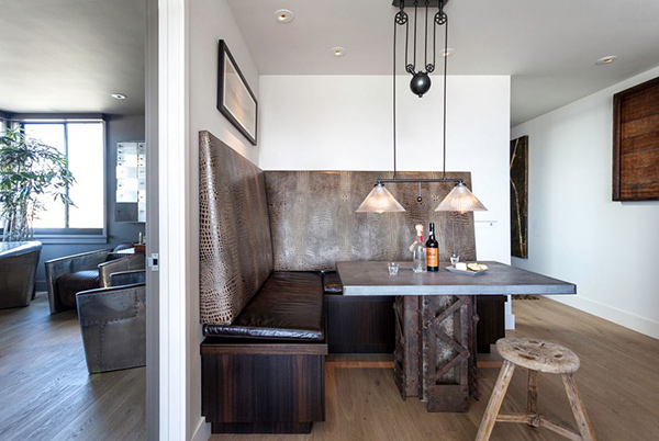 4. Chic Industrial Dining Room
