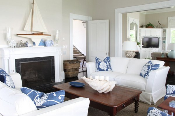 nautical designs - 20 Nautical Home Decorations In The Living Room Home Design Lover