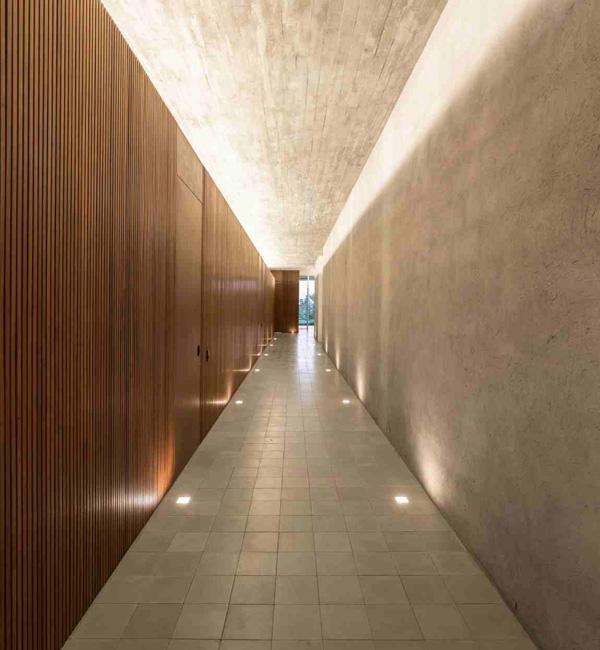 hallway floor lighting