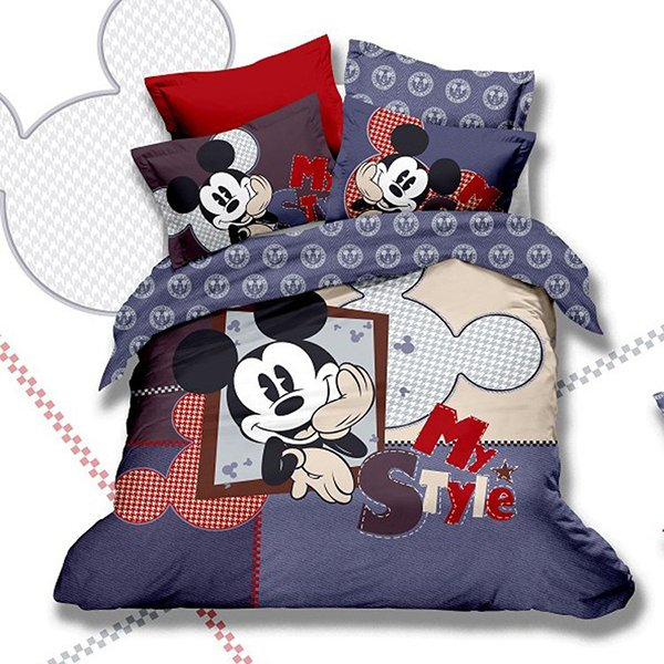 Mickey Mouse Kids Print Bedding Set 5PC. 20 Invigorating Mickey and Minnie Bedding Sets   Home Design Lover