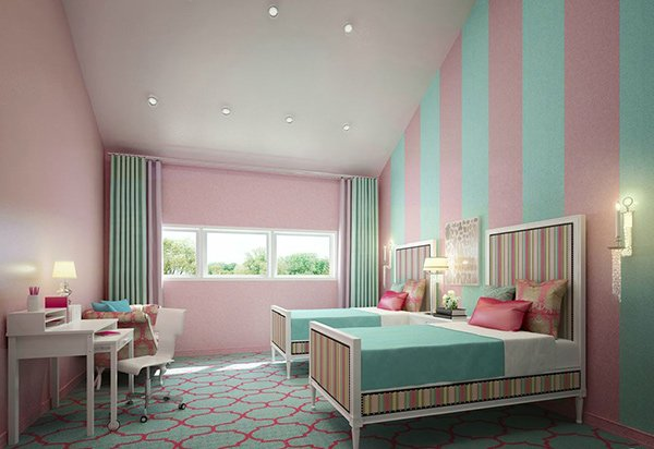 Turquoise And Pink. 20 Fashionable Turquoise Bedroom Ideas   Home Design Lover